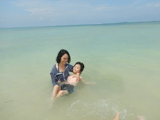 心然の海水浴.JPG